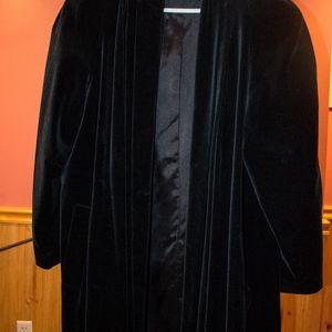 Vintage De Ball Portrait Black Velvet style Jacket